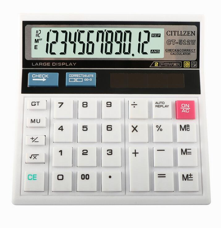 12 Digits Desktop Electronic Calculator CT512