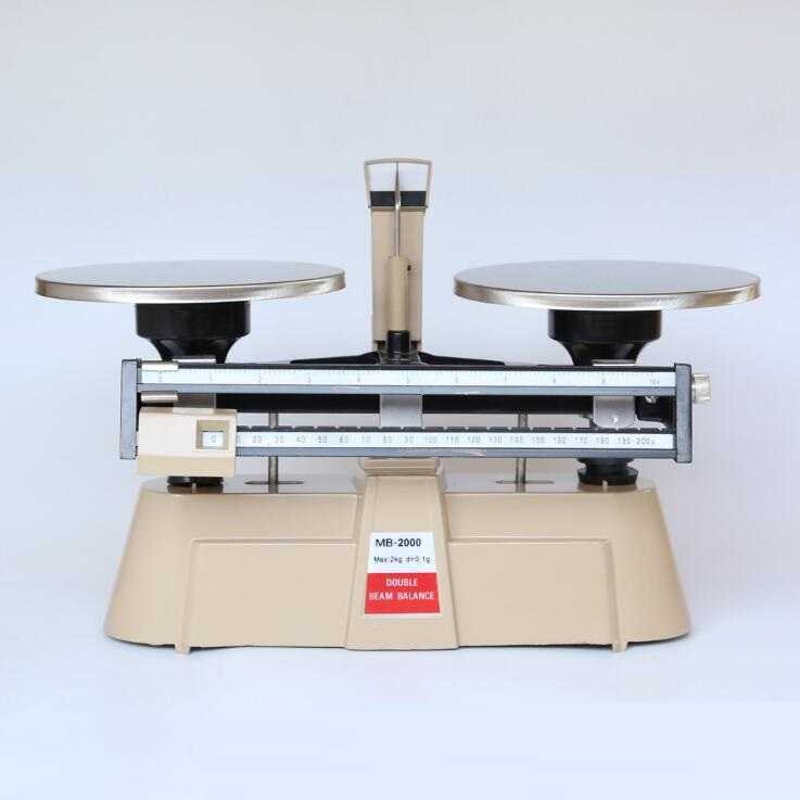 Mechanical double beam balance