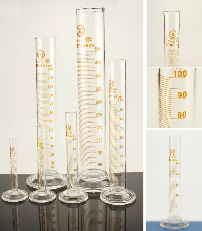 Glass Graduated Cylinder, Measuring Cylinder