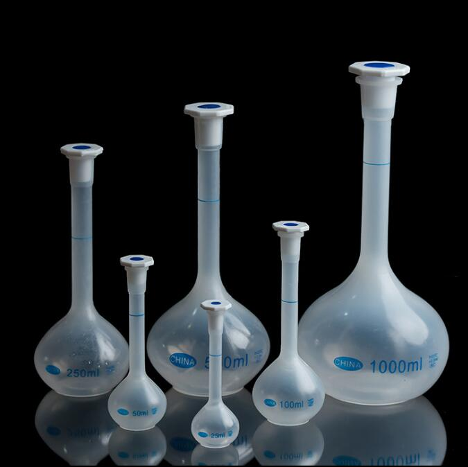 Plastic measuring flask, PP volumetric flask