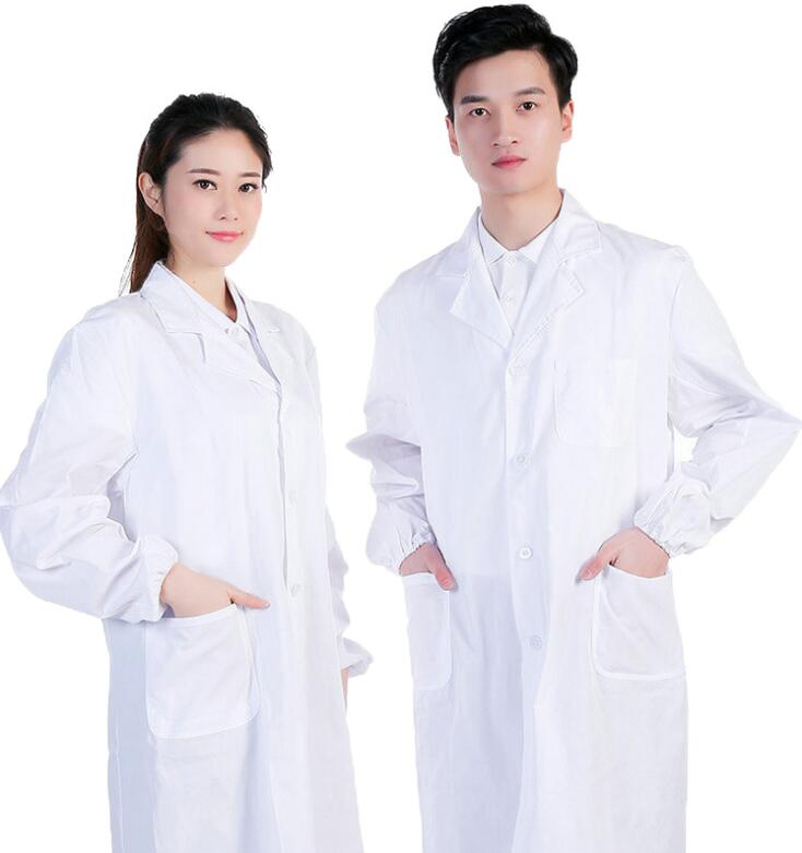 Unisex White Medical Lab Coats