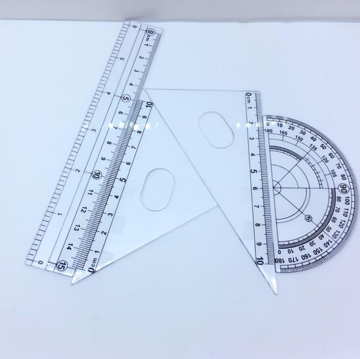 Student Stationery, Plastic Ruler Set