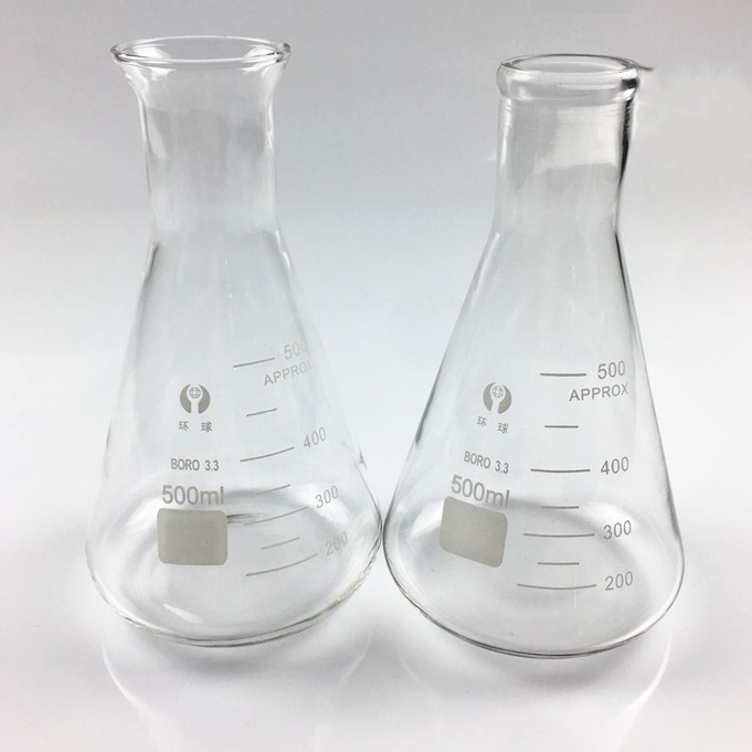 Erlenmeyer Flasks, Wide Mouth, Boro 3.3