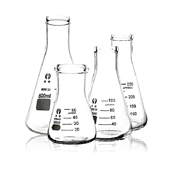 ERLENMEYER FLASKS, narrow mouth, boro 3.3