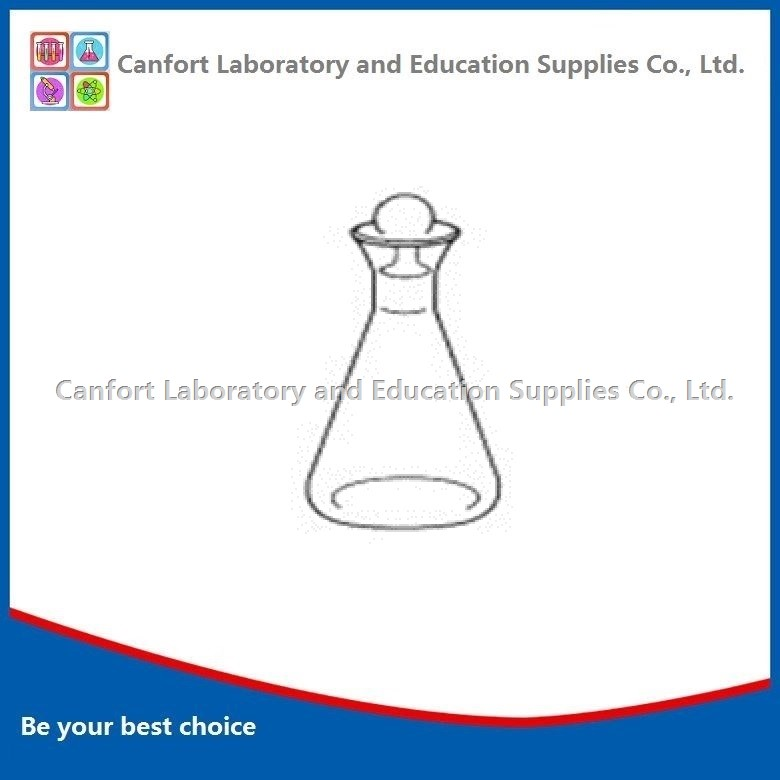 IODINE FLASK, ground-in glass stopper, boro 3.3