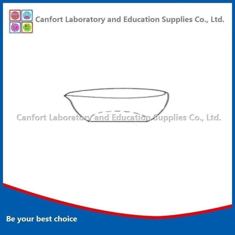 EVAPORATING DISH, flat bottom, with spout