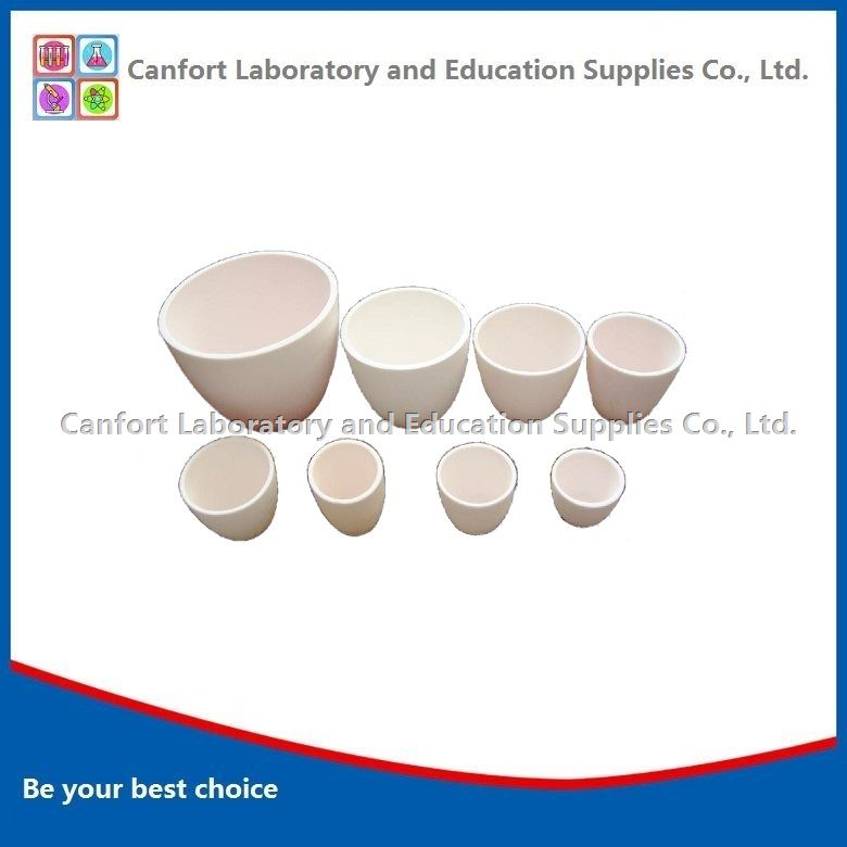 Conical alumina ceramic crucible