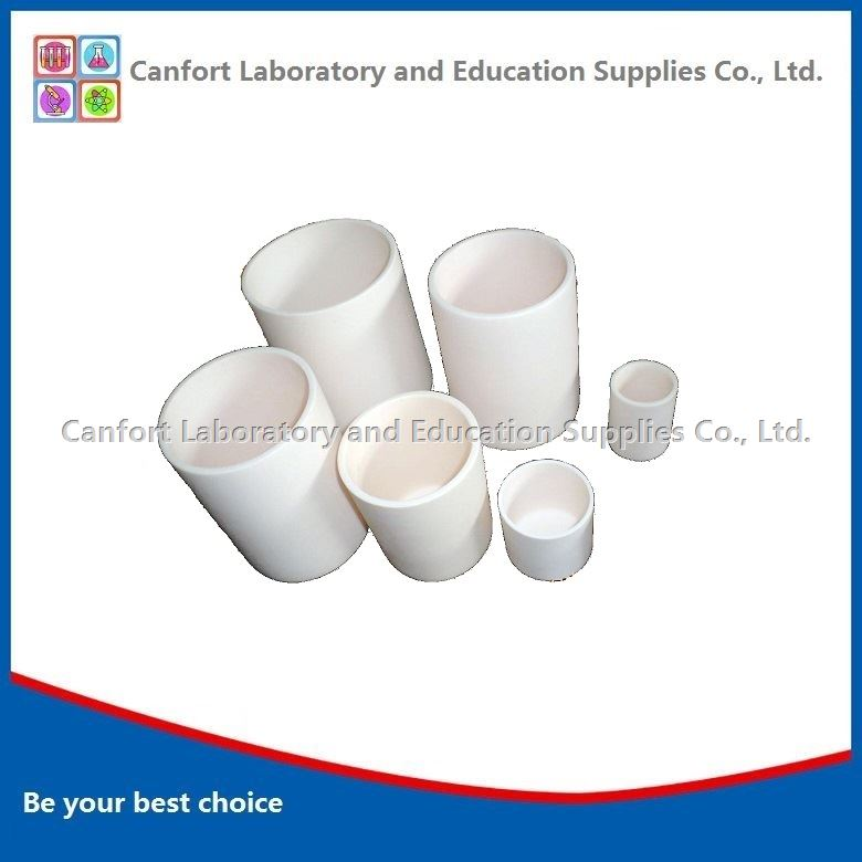 Cylindrical alumina crucible, corundum crucible
