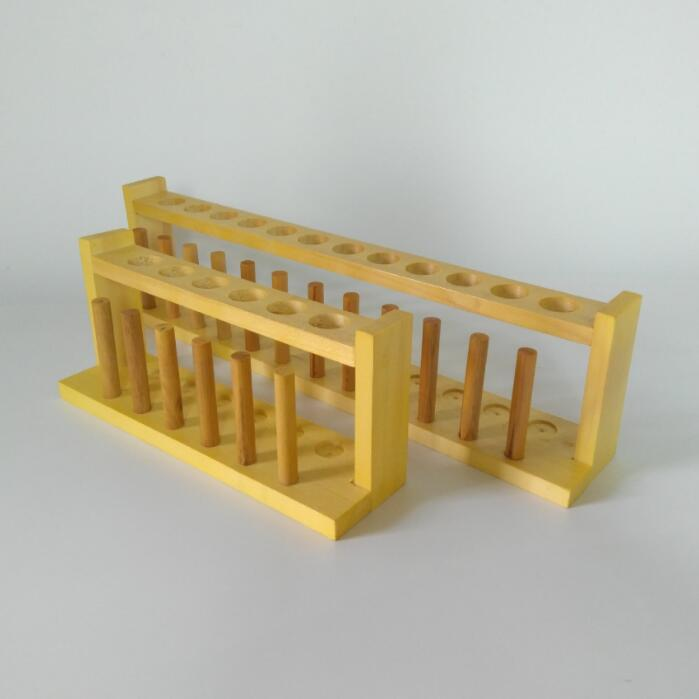 wood test tube rack