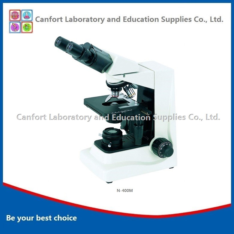 Wide Field Eyepiece Binocular advance Biological Microscope N-400M